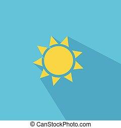 太陽, ベクトル, イラスト, アイコン