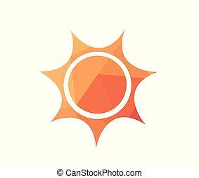 太陽, ベクトル, イラスト, 日の出
