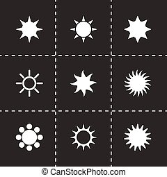 太陽, ベクトル, セット, アイコン
