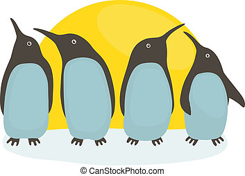 太陽, ペンギン