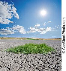 太陽, 上に, 土地, 干ばつ
