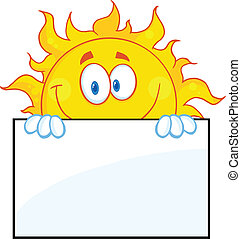 太陽, 上に, 特徴, 板, 印