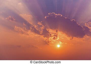 太陽, 云霧, 天空