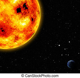 太陽, 他, 惑星, スペース