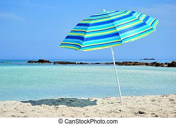 太陽, 傘, 海
