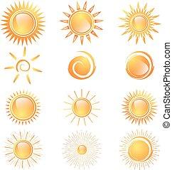 太陽, 別, セット
