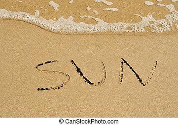 太陽, 在沙子上