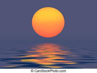 太陽, 夕方