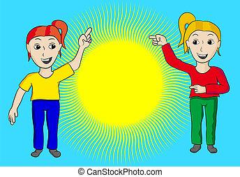 太陽, 女性