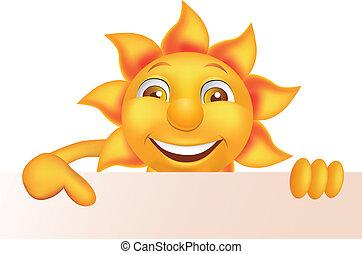 太陽, 字, 卡通