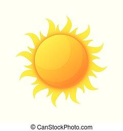 太陽, 惑星, 隔離された, 暖かさ, 熱, 星