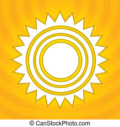 太陽, 抽象的, イラスト