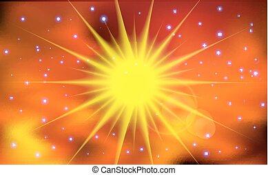 太陽, 抽象的, ライト, バックグラウンド。