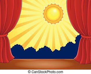 太陽, 抽象的, 2, ステージ