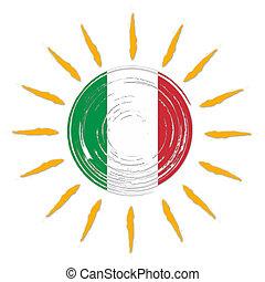太陽, 旗, イタリア語