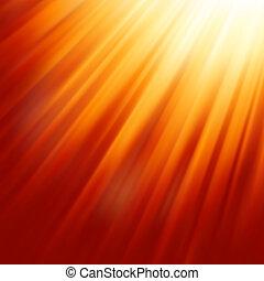 太陽, 暖かい, light., eps, 8