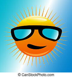 太陽, 浜, サングラス