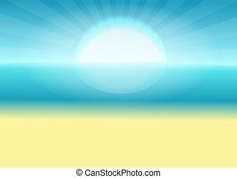 太陽, 海, sand.