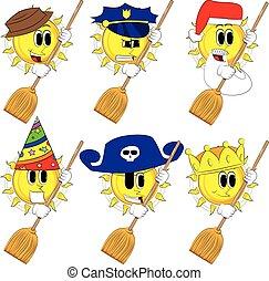 太陽, 漫画, 保有物, broom.