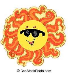 太陽, 漫画, 巻き毛