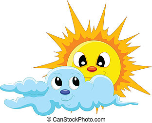 太陽, 漫画, 雲