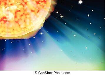 太陽, 現場, 背景, スペース
