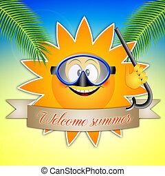 太陽, 由于, 潛水面具
