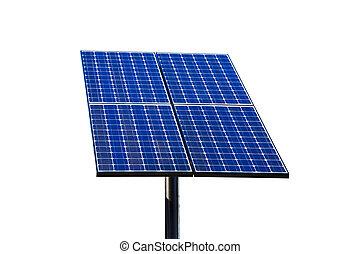 太陽, 綠色, 技術, panel.
