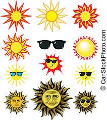 太陽, 芸術, 漫画, クリップ