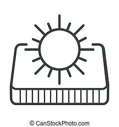 太陽, 適応, マットレス, 側, 整形外科, 夏, 気象記号
