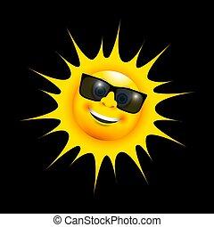 太陽, 高興的微笑, 眼鏡