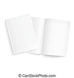 夫妇, 杂志, template., 空白