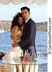 夫婦, 以後, 年輕, 婚禮