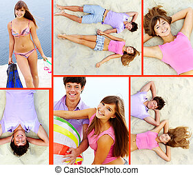 夫婦, 在海灘