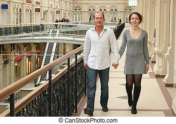 夫婦, 在, 商店