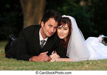 夫婦, 婚禮, 在戶外