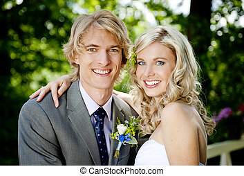 夫婦, 婚禮, 美麗