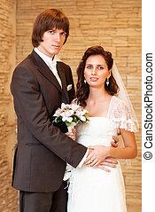 夫婦, 年輕, 婚禮