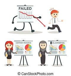 失敗される, セット, ビジネス 人々