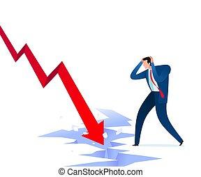 失敗, ショック, ビジネス