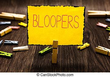 失敗, 概念, 当惑, 間違い, clothespin, 木製である, テキスト, bloopers., 問題, 意味, floor., メモ, missteps, 間違い, 黄色, 保有物, 失敗, ペーパー, いくつか, 手書き, clothespins