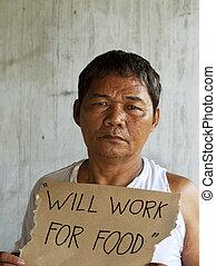 失業者, ホームレスである, 空腹