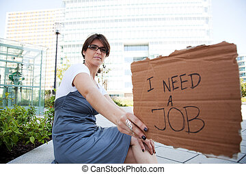 失業者, 女