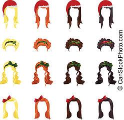 头发, 女性