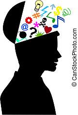 头脑, 人类