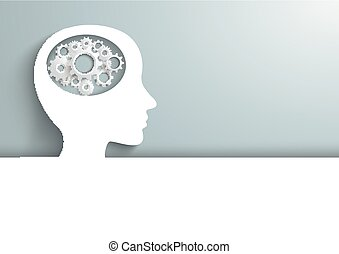 头, 人类, 齿轮, 覆盖