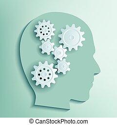 头, 内部, 人类, 齿轮