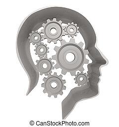 头, 白色, 人类, 齿轮