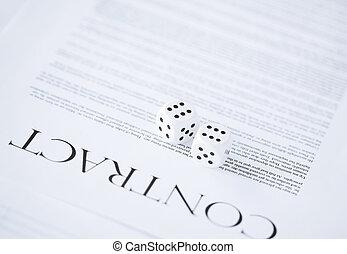 契約, ペーパー, ∥で∥, ギャンブル, さいの目に切る