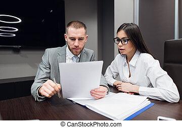 契約, 概念, 人, 法律, ペーパー, 手, ビジネス, オフィス, 署名, 映像, 女, -, 法的